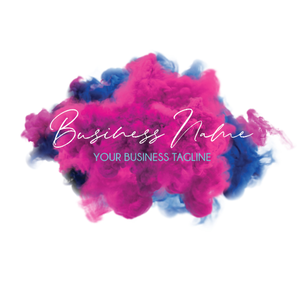 Pink and Blue Small Business Logo