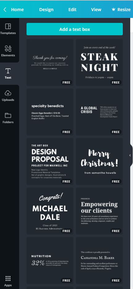 Canva Font Options