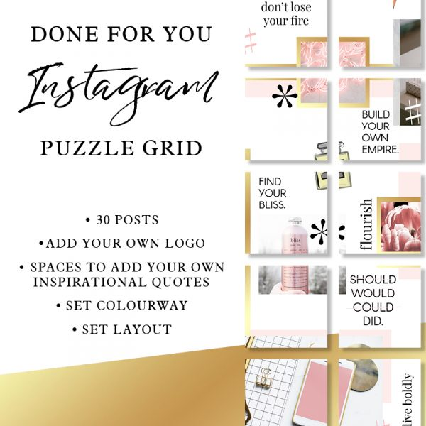 Instagram Puzzle Grid Posts