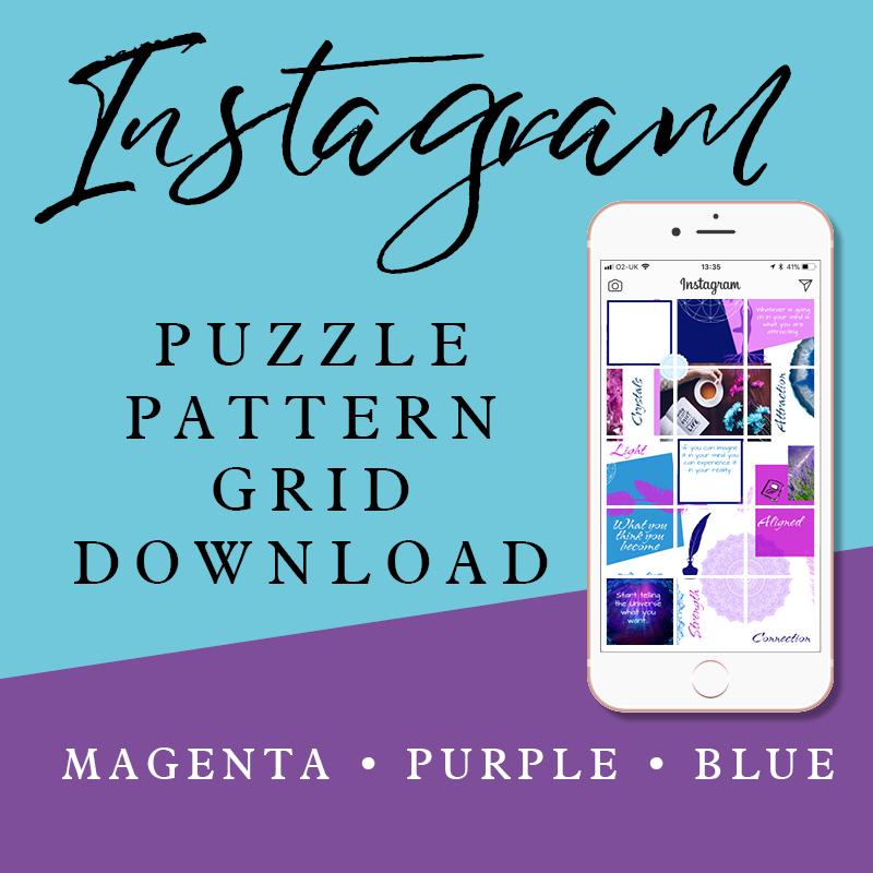 Instagram Puzzle Grid: Magenta Purple & Blue