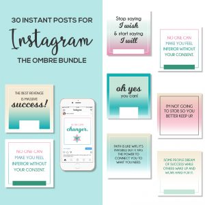 30 Instagram Posts Bundle Ombre