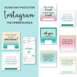 30 Instagram Posts Bundle Ombre