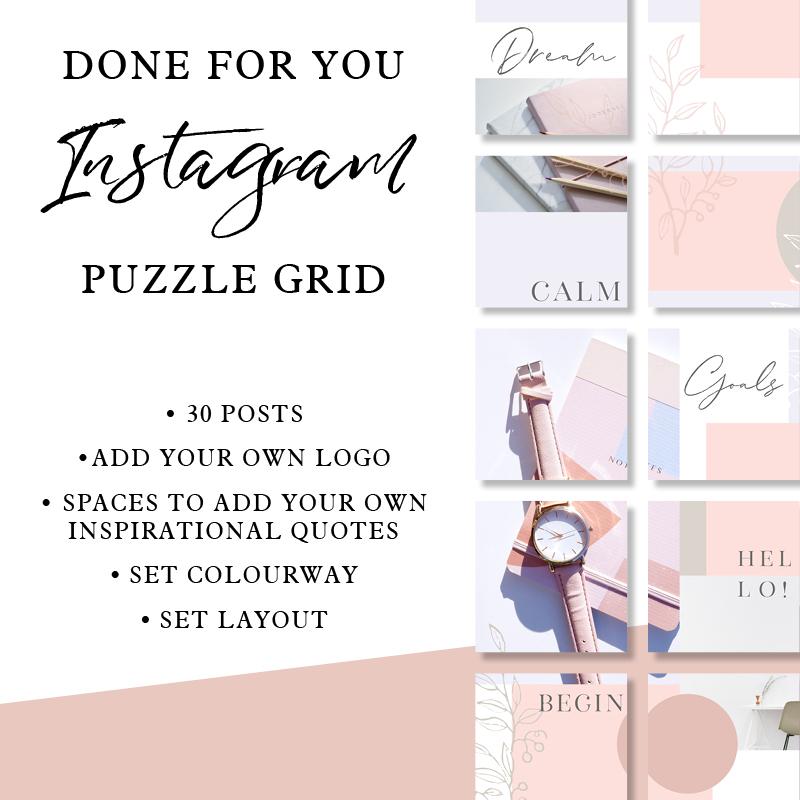 Instagram Puzzle Grid: Blush Delicates - Vicki Nicolson | Branding and Logo  Designer | Graphic Designer | Graphic Design Services for Female