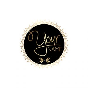 Gold & Black Decorative Circle Logo