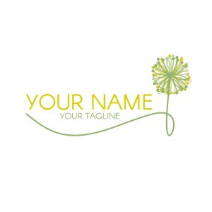 Green and Yellow Dandelion Logo