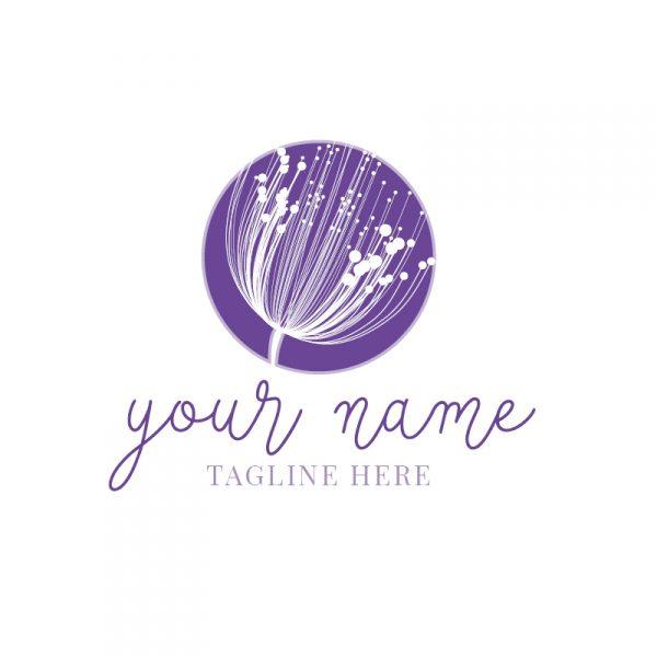 Lavender Dandelion Circle Logo