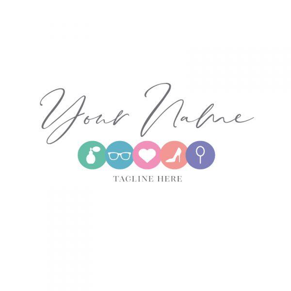 Multicoloured Beauty Icons Logo
