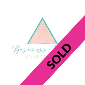 pink and teal triangle logo