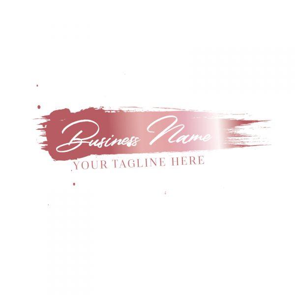 Rose Gold Brush Stroke Logo