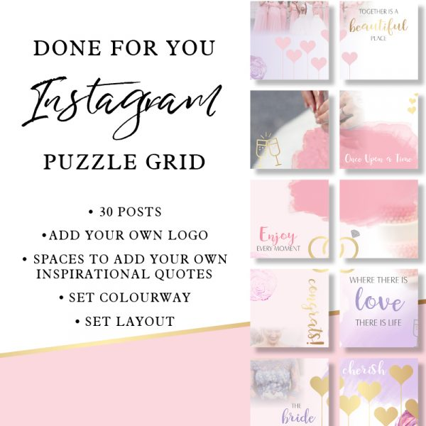 Instagram Puzzle Grid Inspiration Wedding
