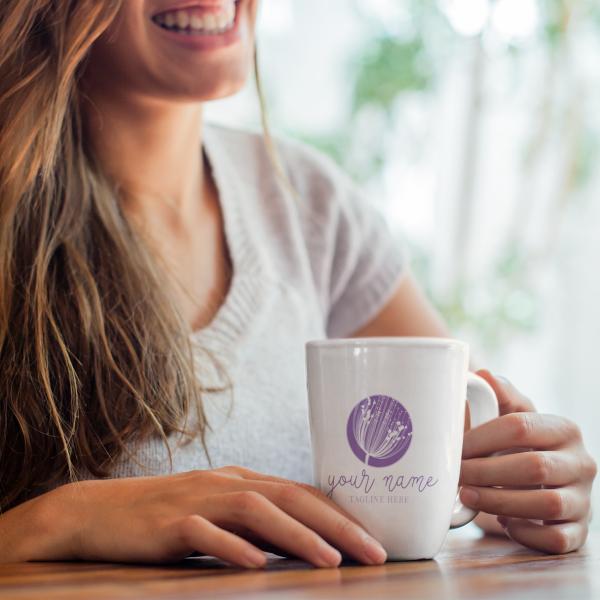 Lavender Dandelion Logo on Mug