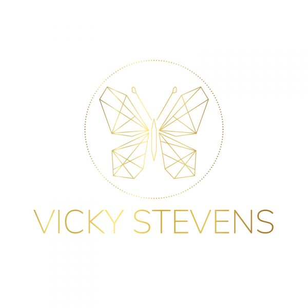 Gold Butterfly Logo by Vicki Nicolson