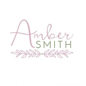 Green and Pink Foliage Logo