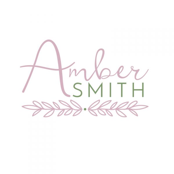 Green and Pink Foliage Logo