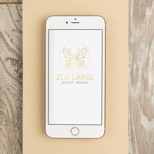 Gold Butterfly Logo