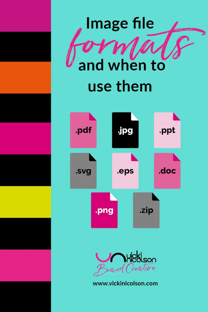 Image file formats and when to use them pin