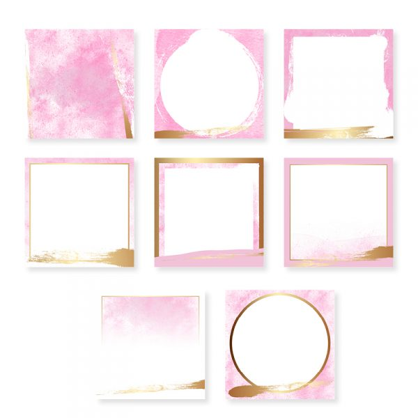 Pink and Gold Instagram Templates