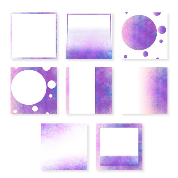 Social Media Templates Purple and Blue