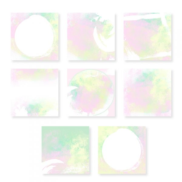 Watercolour Pastel Templates