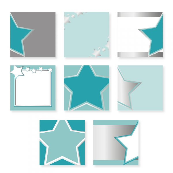 Silver and Teal Social Media Templates