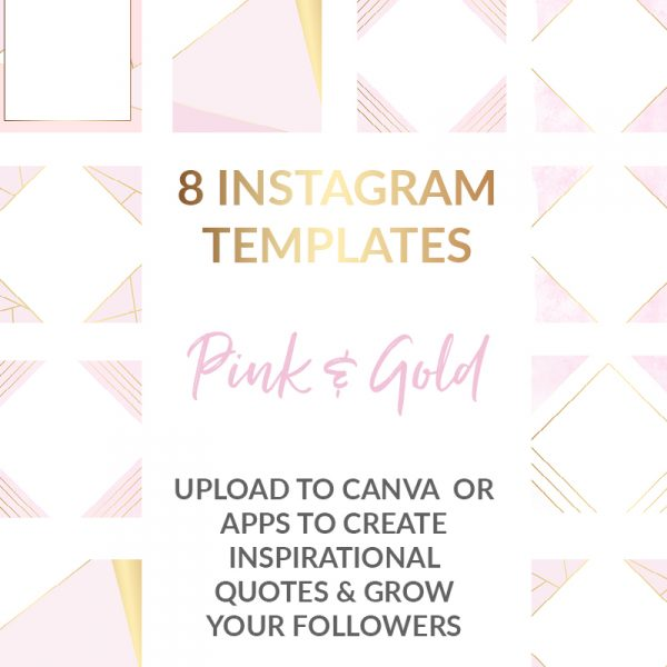 Gold and Pink Geomtric Social Media Templates