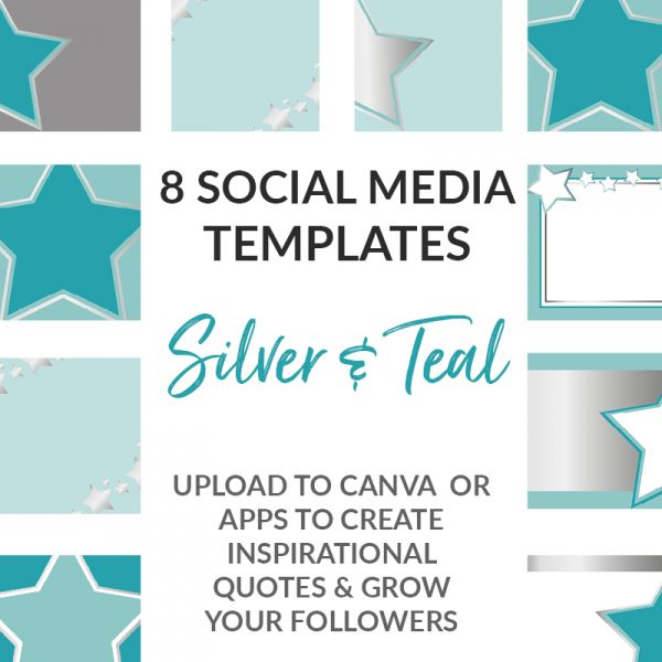 Silver and Teal Social Templates