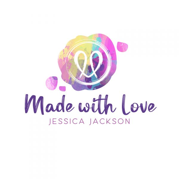 Pink and Teal Watercolour Wax Seal Logo