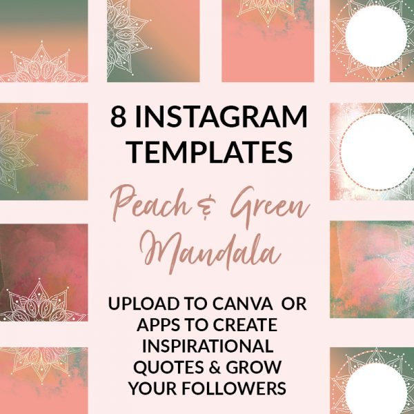Green and Peach Social Media Posts