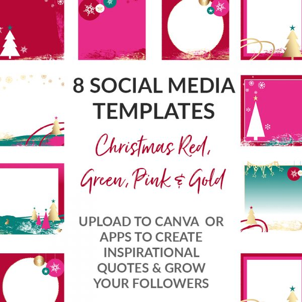 Red Pink Gold Christmas Social Media POsts