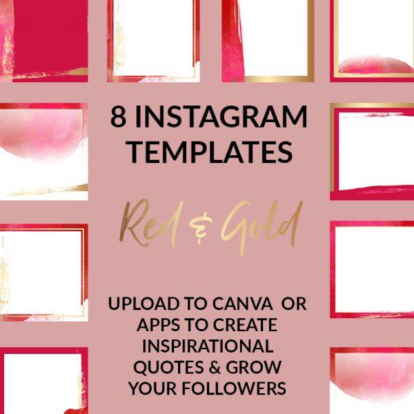 Red & Gold Social Media Templates