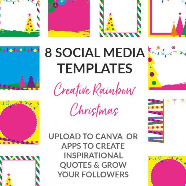 Creative Christmas Neon Posts