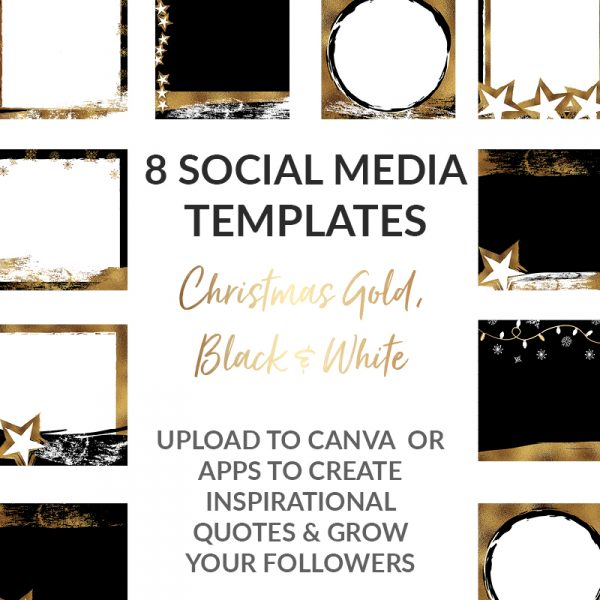 Christmas black and gold posts