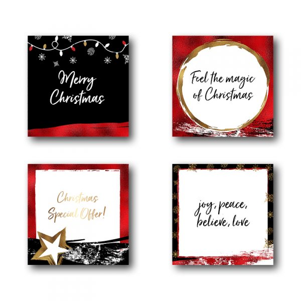 red and gold christmas posts