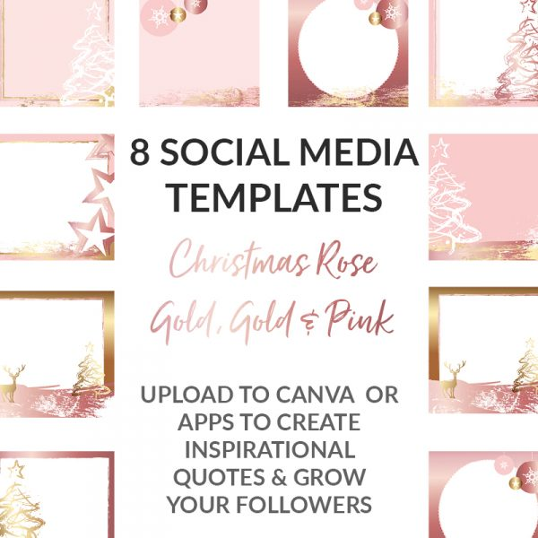 Rose Gold Christmas Posts
