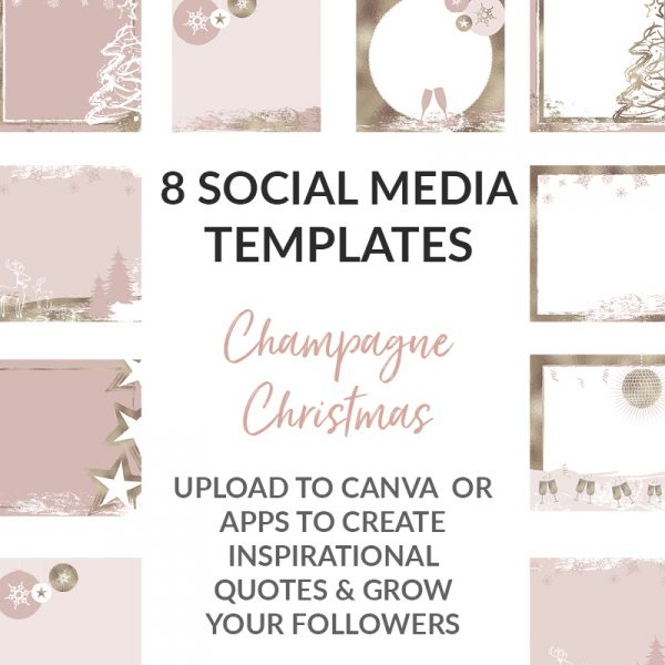 Metallic Champagne Social Media Posts
