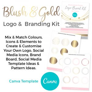 Blush and Gold Logo and brand kit