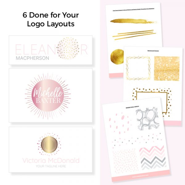 Logo and brand kit for canva