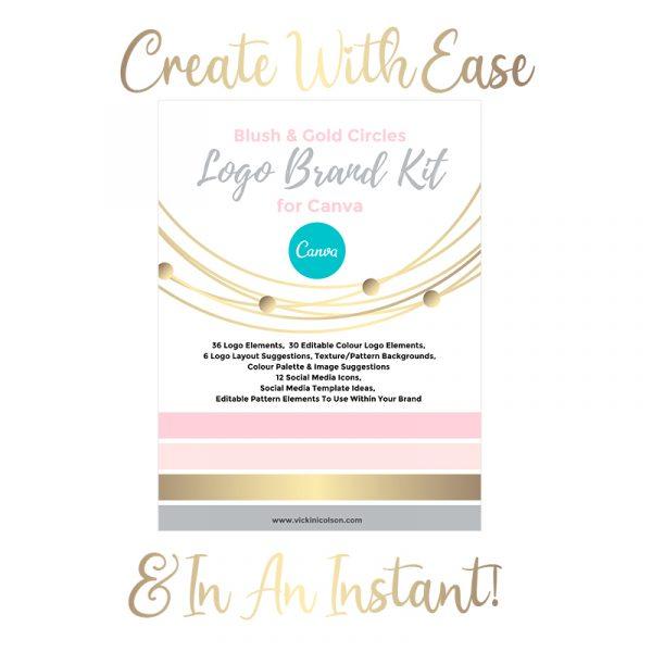 Blush and gold branding kit