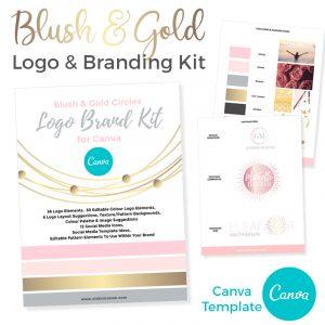 Blush & Gold Canva Template Branding