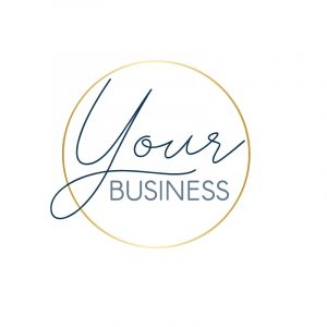 Small Business Fine Gold Circle Logo