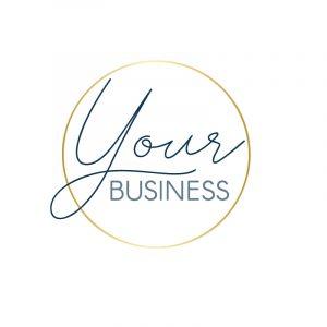 Small Business Fine Gold Circle Logo