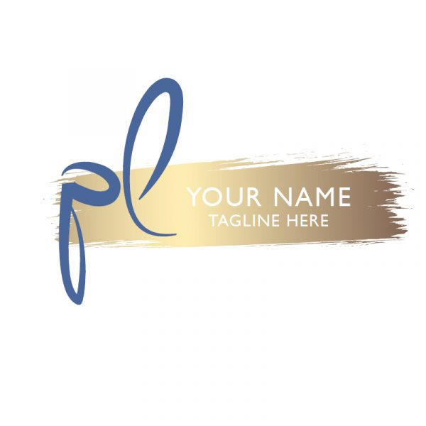 photography logo in gold and blue