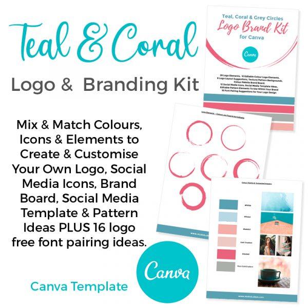 logo and branding kit for canva