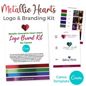 Metallic Heart Branding Canva Template