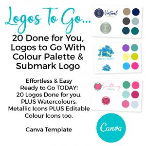 Done for you premade logos for canva
