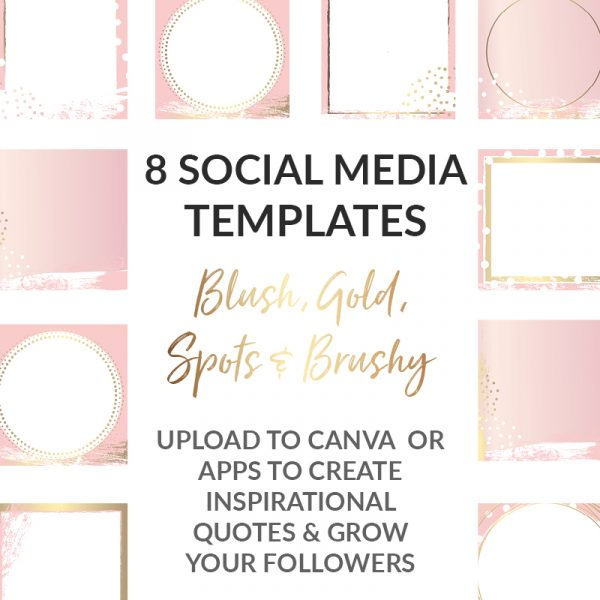 branding blush and gold