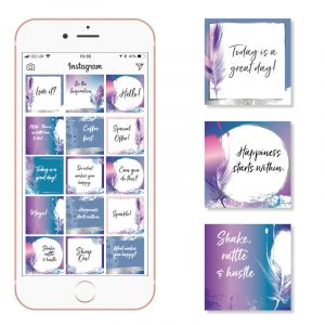 feather social media templates