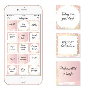 blush and gold social media templates