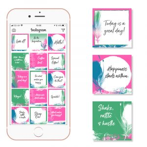 social media templates bright pink