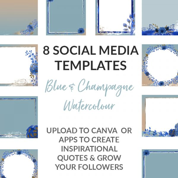 watercolour social media templates